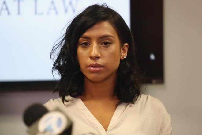 Montia Sabbag, 28, claimed she had sex with Hart three times in August 2017