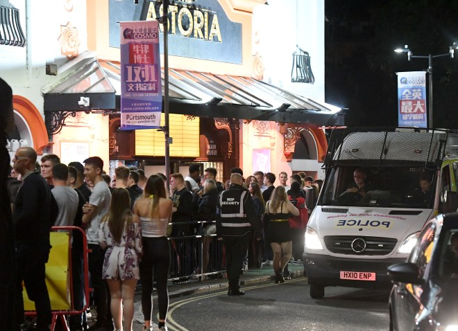 Queues for The Astoria nightclub went around the corner as thousands of Portsmouth University stepped out for Freshers' Week
