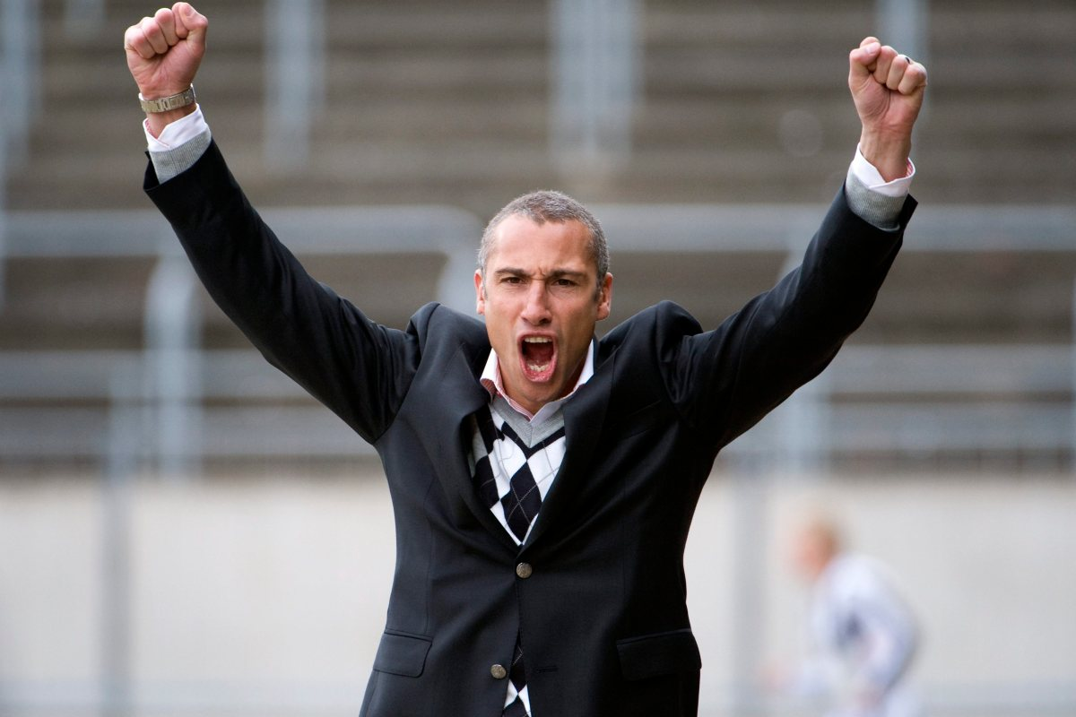 Man Utd hero Henrik Larsson pictured watching Southend amid talk of him taking over as manager