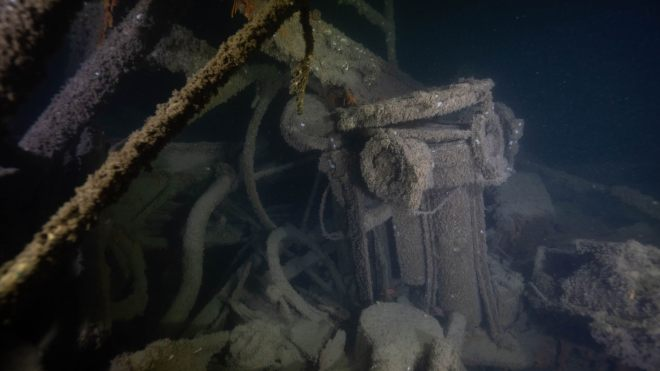 Divers have been exploring the wreck, which was discovered in 2018