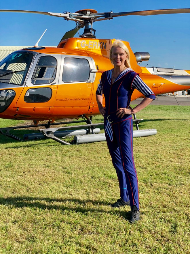 Anneka Rice, 60, is set to jump from a helicopter in a jumpsuit from her TV heyday on Saturday's Strictly