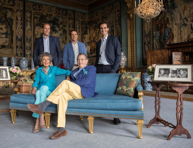 Vaux-le-Vicomte is run as a business by Patrice and Cristina de Vogüé and their sons Ascario, Alexander and Jean-Charles