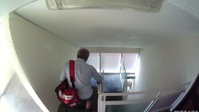 Royal Mail bosses are investigating after we contacted them about the footage taken at 11am on Friday