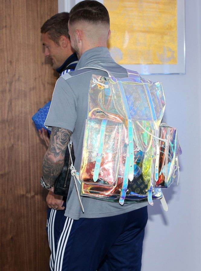 James Maddison turned up sporting his £6,500 backpack - and took the Man of the Match trophy away in it
