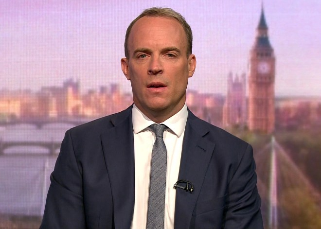 Dominic Raab hinted the Government could suspend Parliament again to help with Brexit