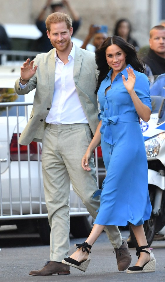 The Duke and Duchess of Sussex arrive for a visit to the District Six Museum in Cape Town,