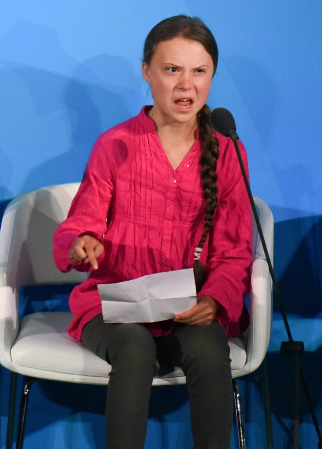 Furious... Greta Thunberg tore into world leaders at a UN climate summit