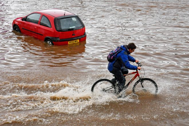 Water chiefs officially declared a drought on one of Britain's wettest days of the year
