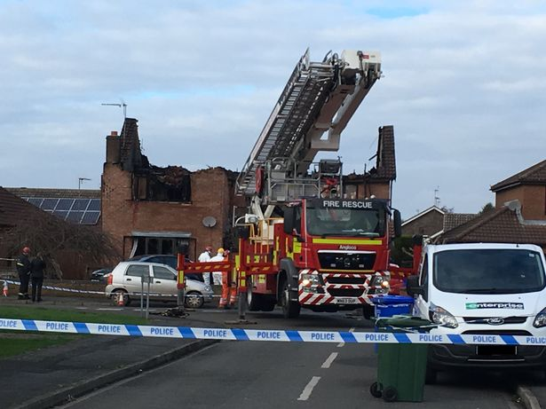 This is the house in Kirton where three people died on New Year's Day