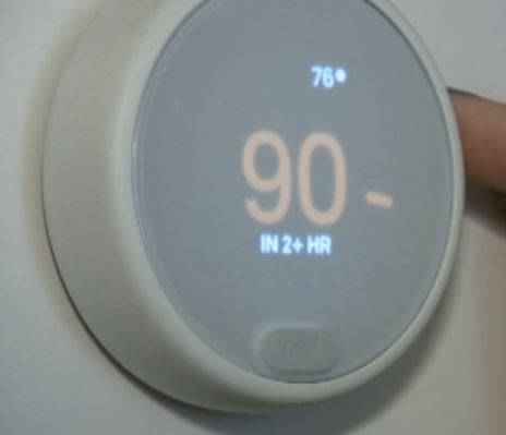 The thermostat had been turned all the way up to 90F (32C)
