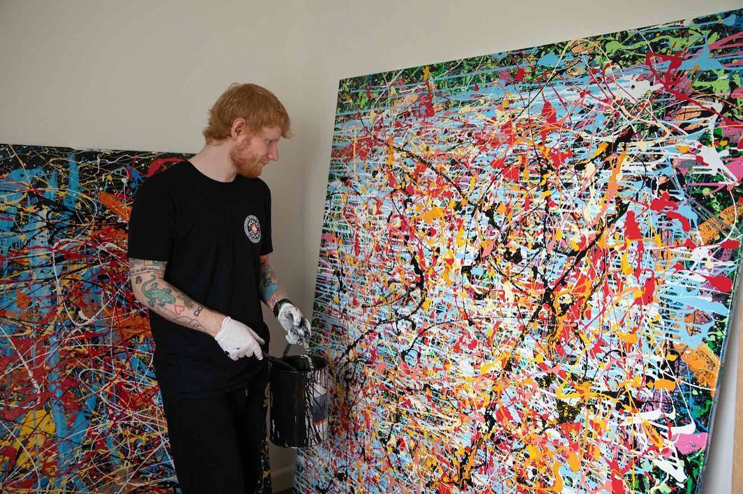 Ed Sheeran reveals huge painting that took him a MONTH as he turns artist  in his time off music