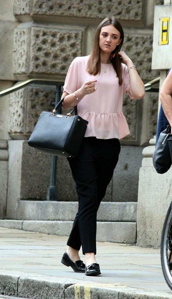 Gemma Hodder outside the Old Bailey