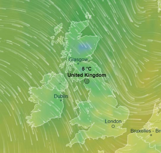 Britain is braced for an early taste of winter today as Icelandic air moves in from the North Sea