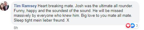 Another friend said Josh was 'funny' and 'happy'