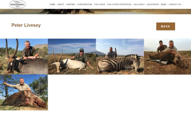 Mr Livesey's gallery of his hunts on the HuntersHill safari website