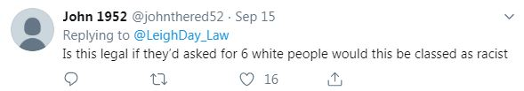 This Twitter user questioned the legality of it