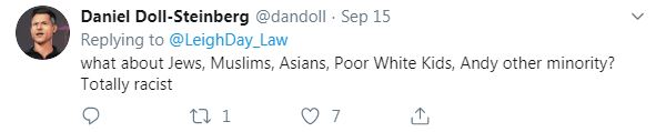 This person on Twitter branded the advertisement as racist