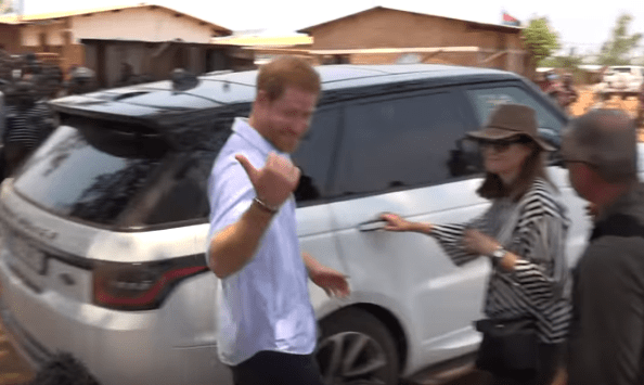 He told the reporter to 'ask them' about his visit to a hospital in Malawi