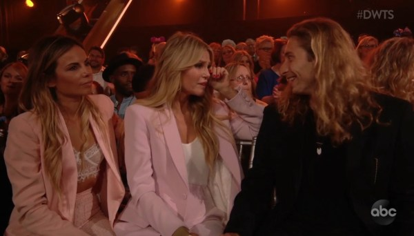 Christie Brinkley wipes away tears as she watches her daughter Sailor transformed into Cinderella on Dancing With The Stars