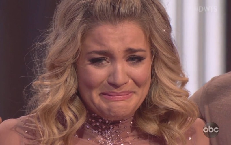 Country star Lauren Alaina breaks down in tears in heartbreaking performance on Dancing With The Stars