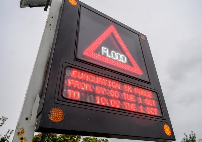 People were warned to evacuate at-risk homes in Norfolk today amid flood warnings