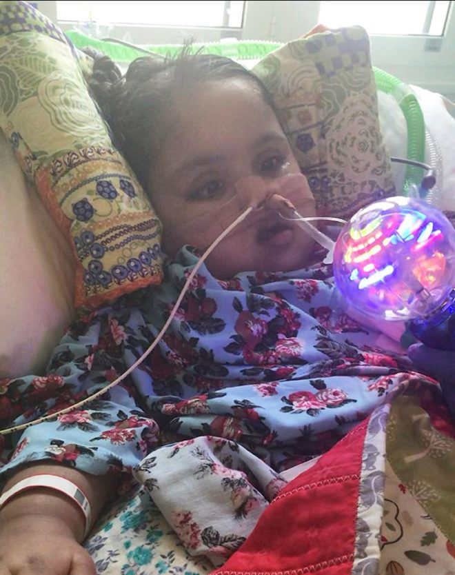 Tafida fell ill after blood vessels in her brain ruptured at home in February