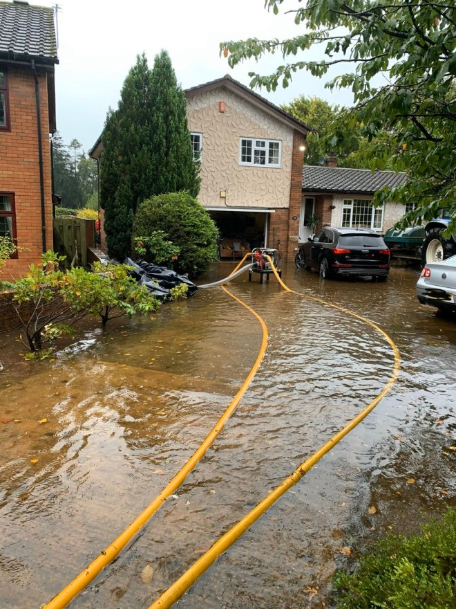 This home has been flooded after heavy rain in Carlisle, Cumbria