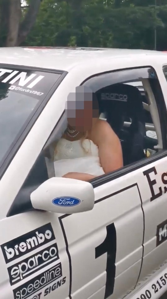 It is unclear how the bride knew the driver