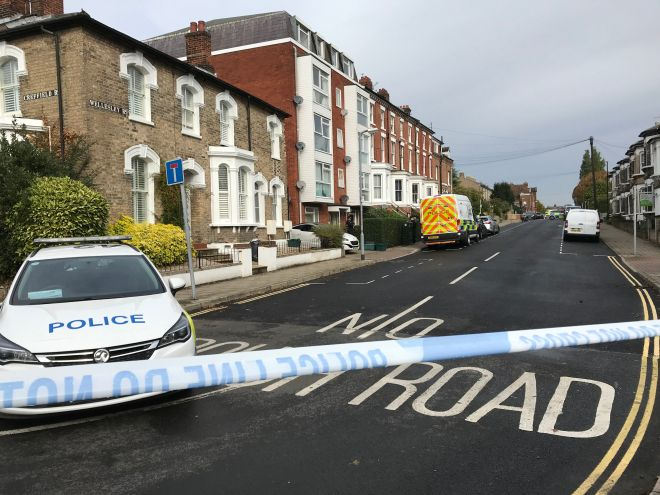 Three men were found stabbed to death in Colchester on Sunday