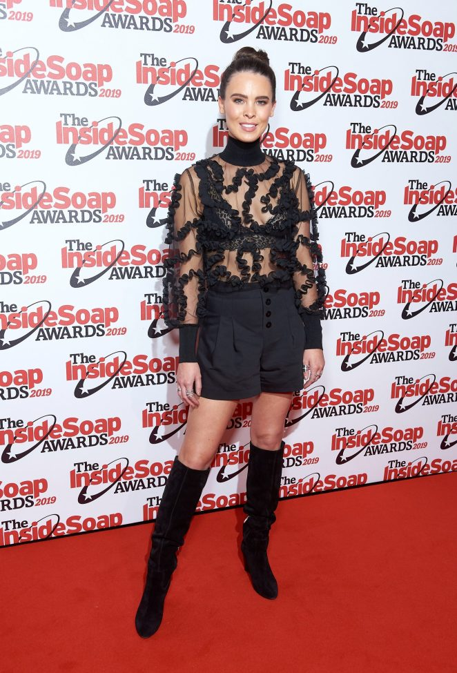Jessamy Stoddart was stylish in a black ensemble