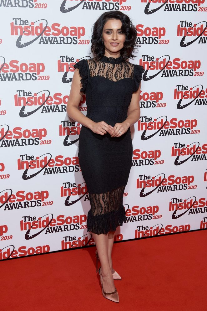 Bhavna Limbachia wowed in a black midi-dress for the occasion