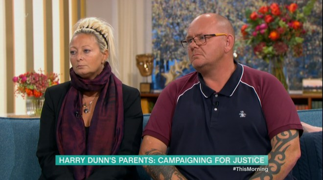 The grieving parents called on the American woman to return to the UK