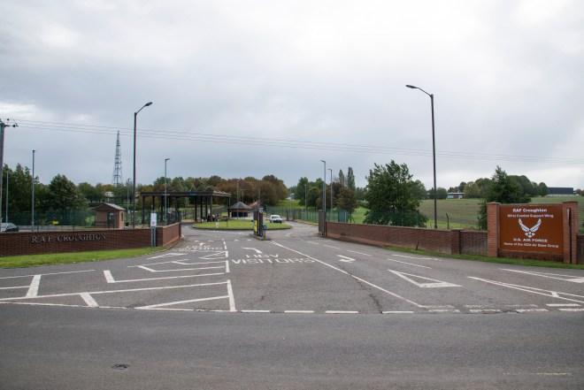 The crash happened near RAF Croughton