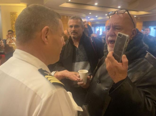 Passengers confronted staff in angry conversations