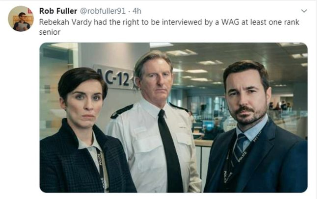 Line of Duty's Martin Compston responded to the memes, saying 'for the purposes of the tape, I can confirm I am not Coleen Rooney'