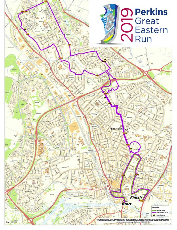 Map of the Perkins Great Eastern Run