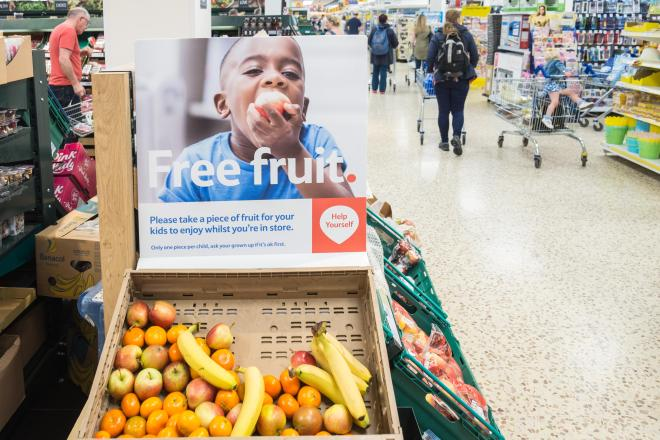 Tesco has banned free bananas and oranges over fears customers will sue for slipping on peels