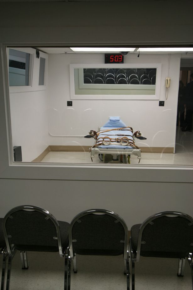 The death chamber where the botched execution took place