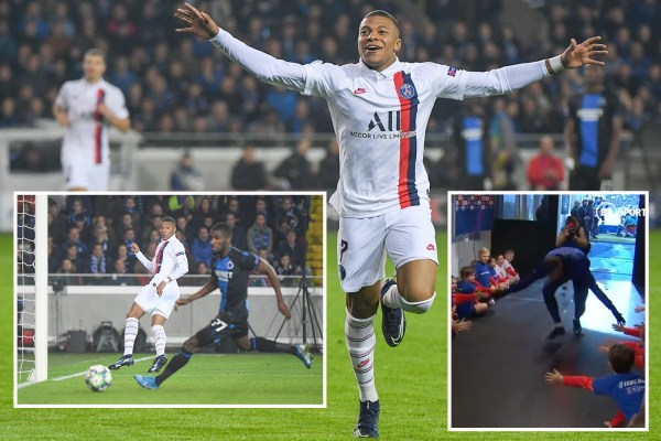 Sub Mbappe scores brilliant hat-trick for PSG - after delighting group of mascots with high fives