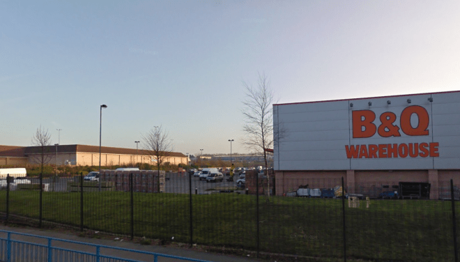 Emergency services rushed to the B&Q car park yesterday afternoon but the 67-year-old woman tragically died