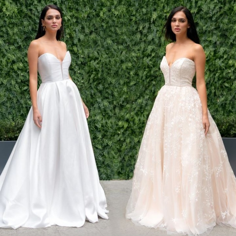 Designer creates reversible wedding dresses so brides can have two looks for the price of one