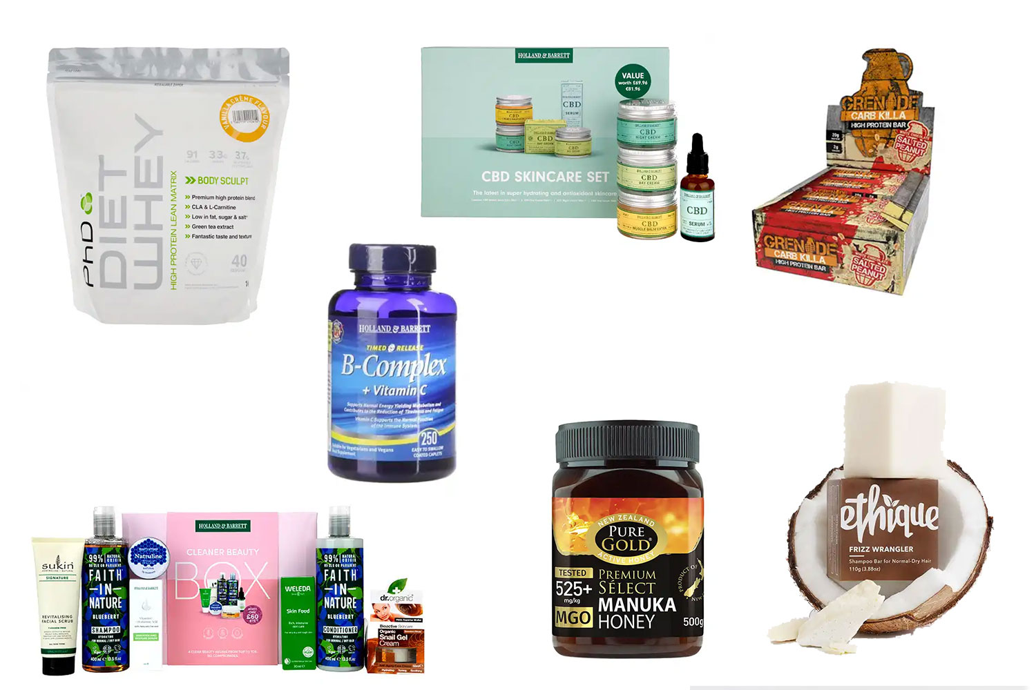 Holland and Barrett have offers across a whole range of products, from food to beauty