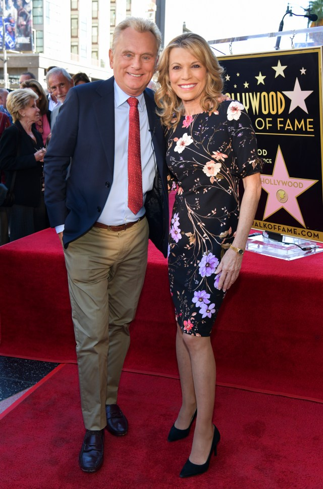 Pat Sajak looked well when he posed with Vanna White on November 1, 2019 in Hollywood, California before being taken ill and needing emergency surgery