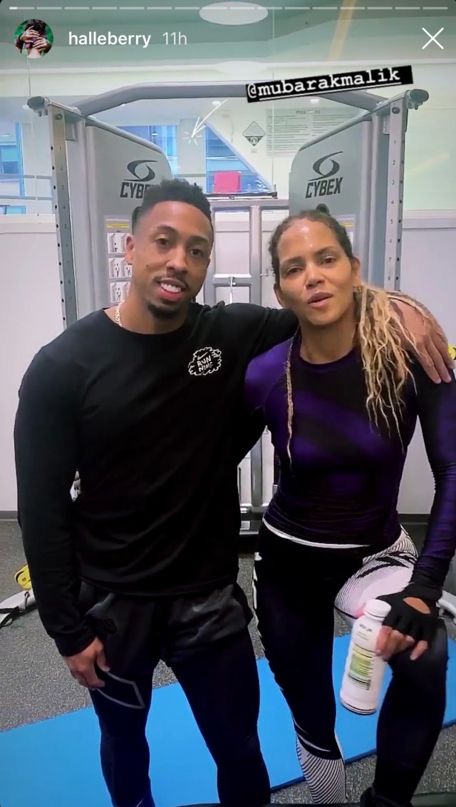 Halle has been training for Bruised, an MMA movie, which she is both directing and starring in