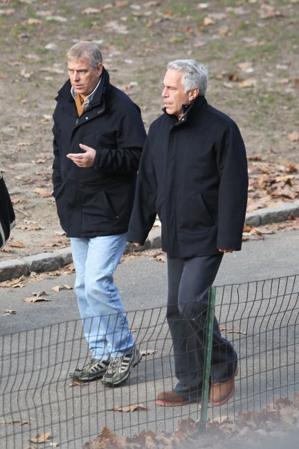 Prince Andrew with pal Jeffrey Epstein after the disgraced financier's first arrest