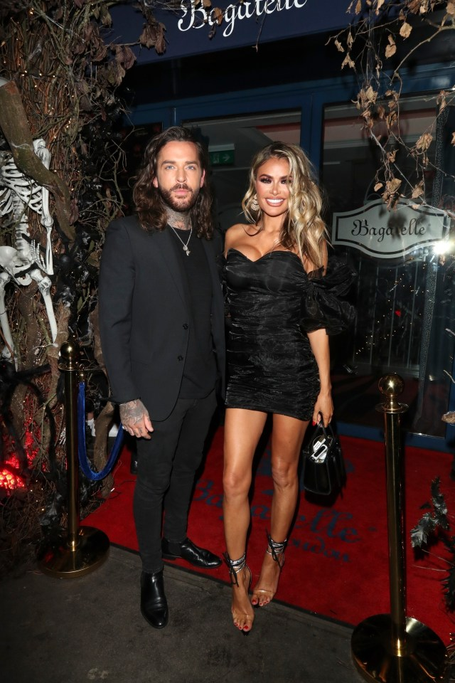 Pete Wicks and Chloe Sims celebrated their birthdays together last night
