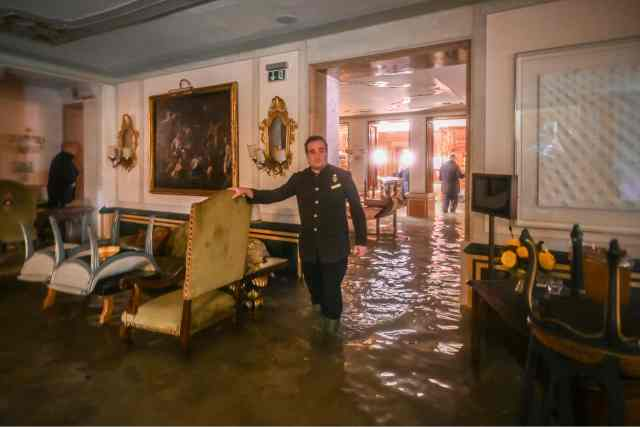 The floodwater laid waste to a series of luxury hotels