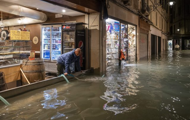 Business owners battled to hold back the water
