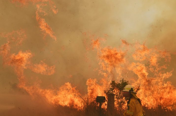 Brave fire crews in New South Wales tackles the flames head-on but warn the worst is yet to come
