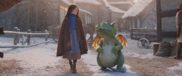 La publicité commence avec Ava et son pote Excitable Edgar traversant leur ville, un pays lointain